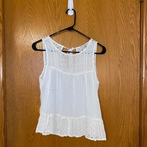 Abercrombie & Fitch White Detailed Tank
